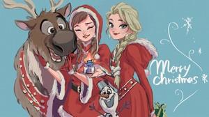 Anna, Elsa and Sven