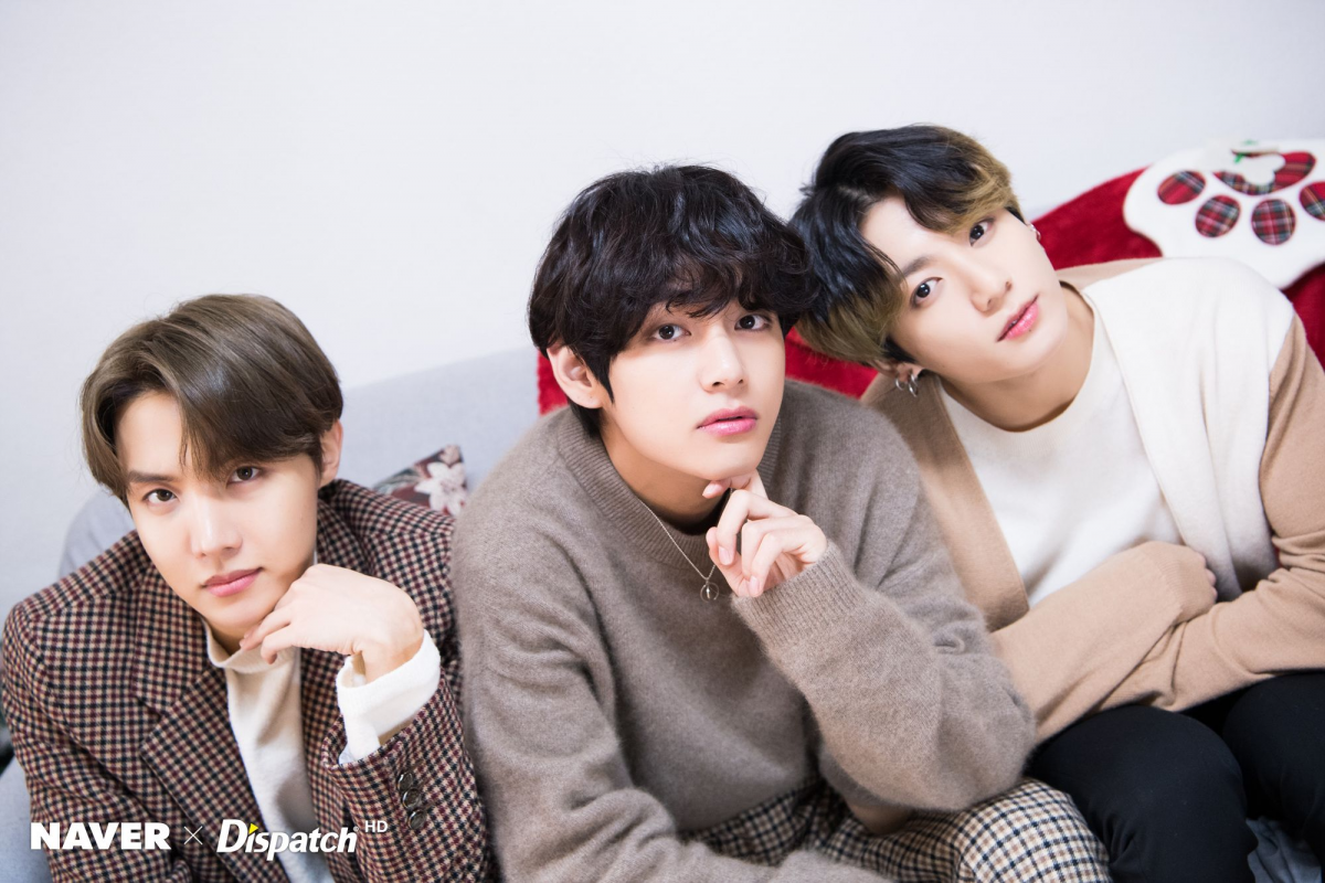 BTS Рождество photoshoot by Naver x Dispatch