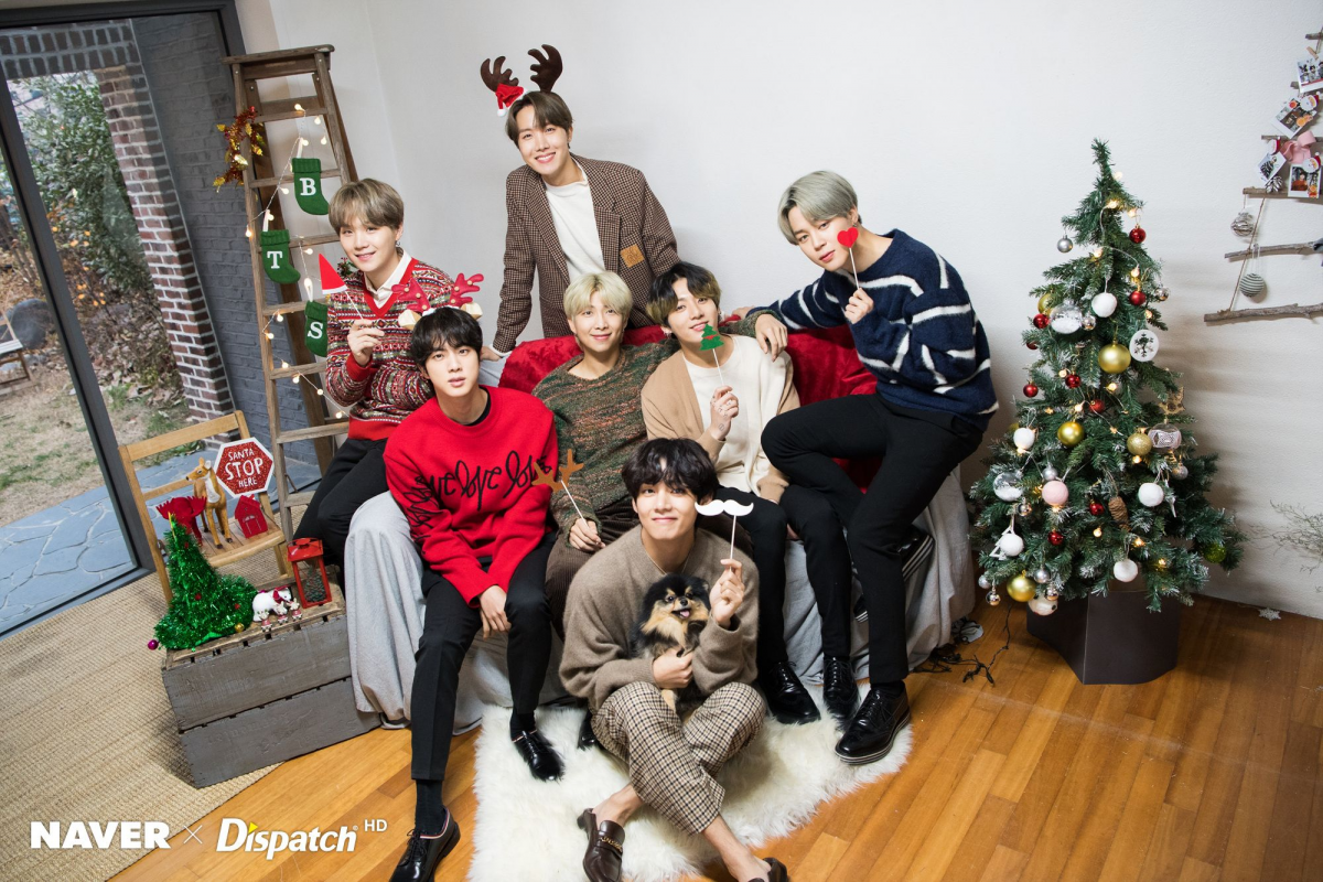 বাংট্যান বয়েজ বড়দিন photoshoot দ্বারা Naver x Dispatch