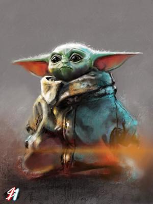 Baby Yoda - por Sean Miller