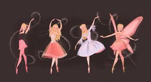 Barbie, Clara, Odette and Elina