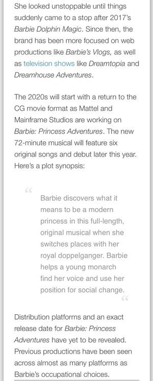 Barbie: Princess Adventure Pre-Kidscreen Edition Magazine