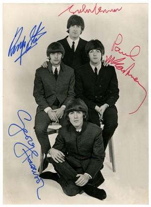 Beatles Autograph Poster