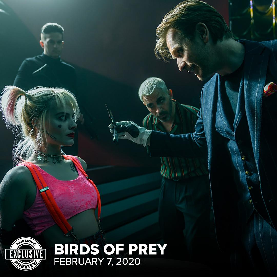 Birds of Prey (2020) Still - Harley Quinn, Victor Zsasz and Black Mask