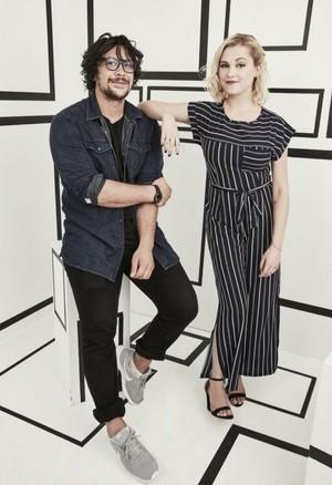 Bob Morley and Eliza Taylor