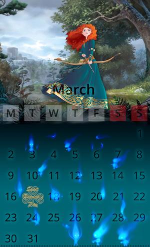 Calendar March Merida