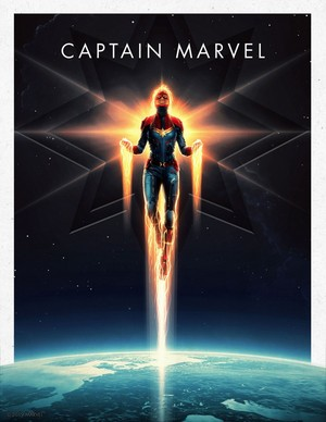 Captain Marvel -Marvel Cinematic Universe Collector's Edition Box Set Posters