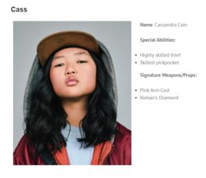 Character Bio ~ Cassandra Cain