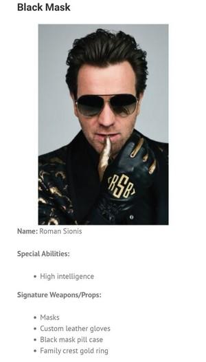 Character Bio ~ Roman Sionis