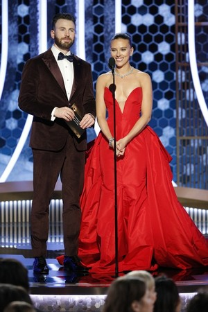 Chris Evans and Scarlett Johansson - 77th Golden Globes - January 6, 2020