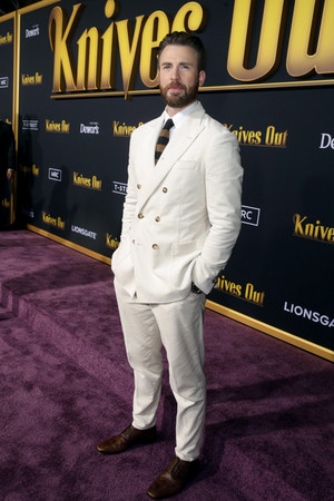 Chris at Knives Out premiere