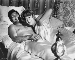 Clint Eastwood and Arlene Golonka on the set of Hang 'Em High (1968)