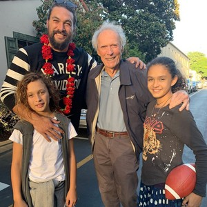 Clint Eastwood and Jason Momoa (October 30, 2019)