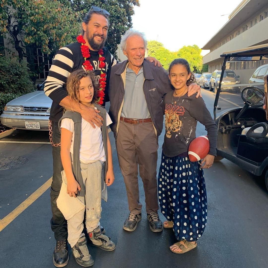 Clint Eastwood and Jason Momoa (October 30, 2019)
