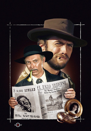 Clint Eastwood and Lee バン Cleef in For a Few Dollars もっと見る 1965