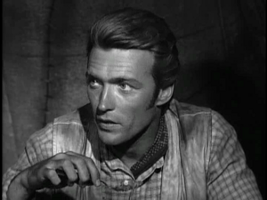 Clint as Rowdy Yates in Rawhide 1x06 Incident of the Power and the Plow