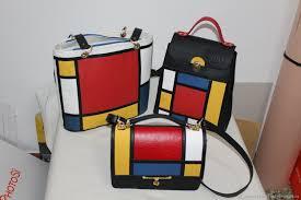 Color Block Handbag Set