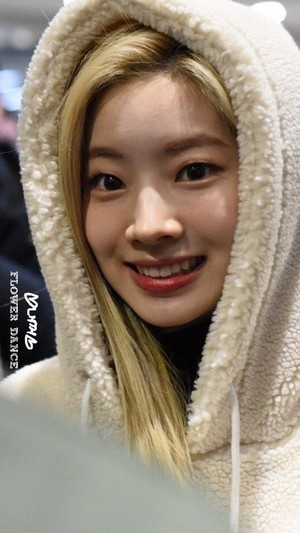 Dahyun at the airport