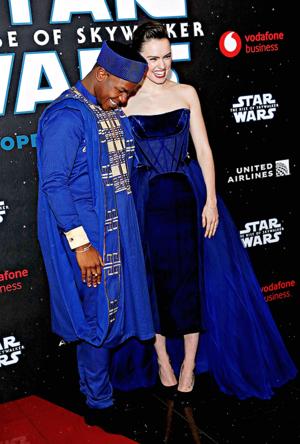 margherita Ridley and John Boyega - stella, star Wars: The Rise of Skywalker European Premiere -December 18, 2019
