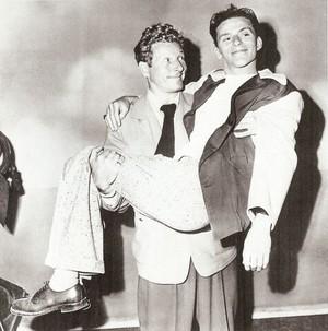 Danny Kaye with Frank Sinatra