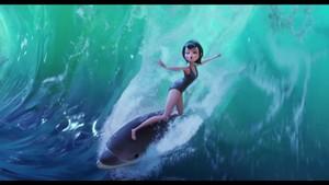 Delphine Surfing