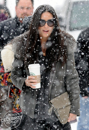 Demi Moore Snow