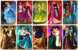 迪士尼 princesses and princes