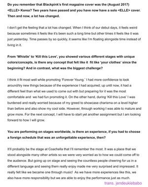 English Translation of Jisoo interview with ELLE Korea Magazine