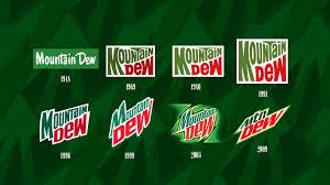 Evolution Of The Mountain Dew Logo