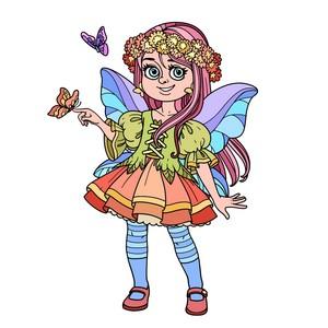 Fata con farfalle