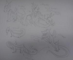 Flying fox and Komodo Dragon FakeMon
