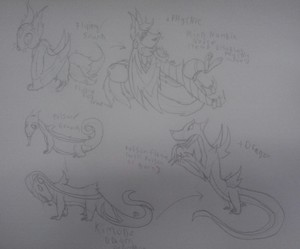 Flying volpe and Komodo Dragon FakeMon