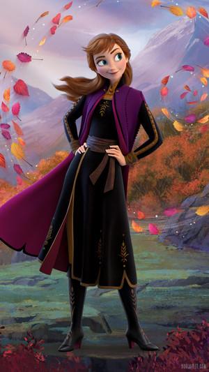 Frozen 2 - Anna Phone karatasi la kupamba ukuta