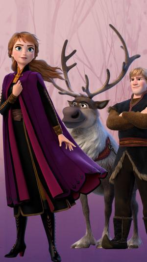 Frozen 2 - Anna Phone achtergrond