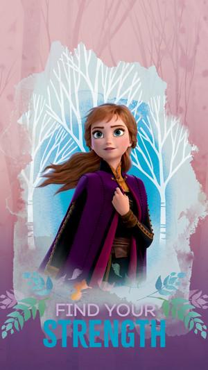 Frozen 2 - Anna Phone Wallpaper