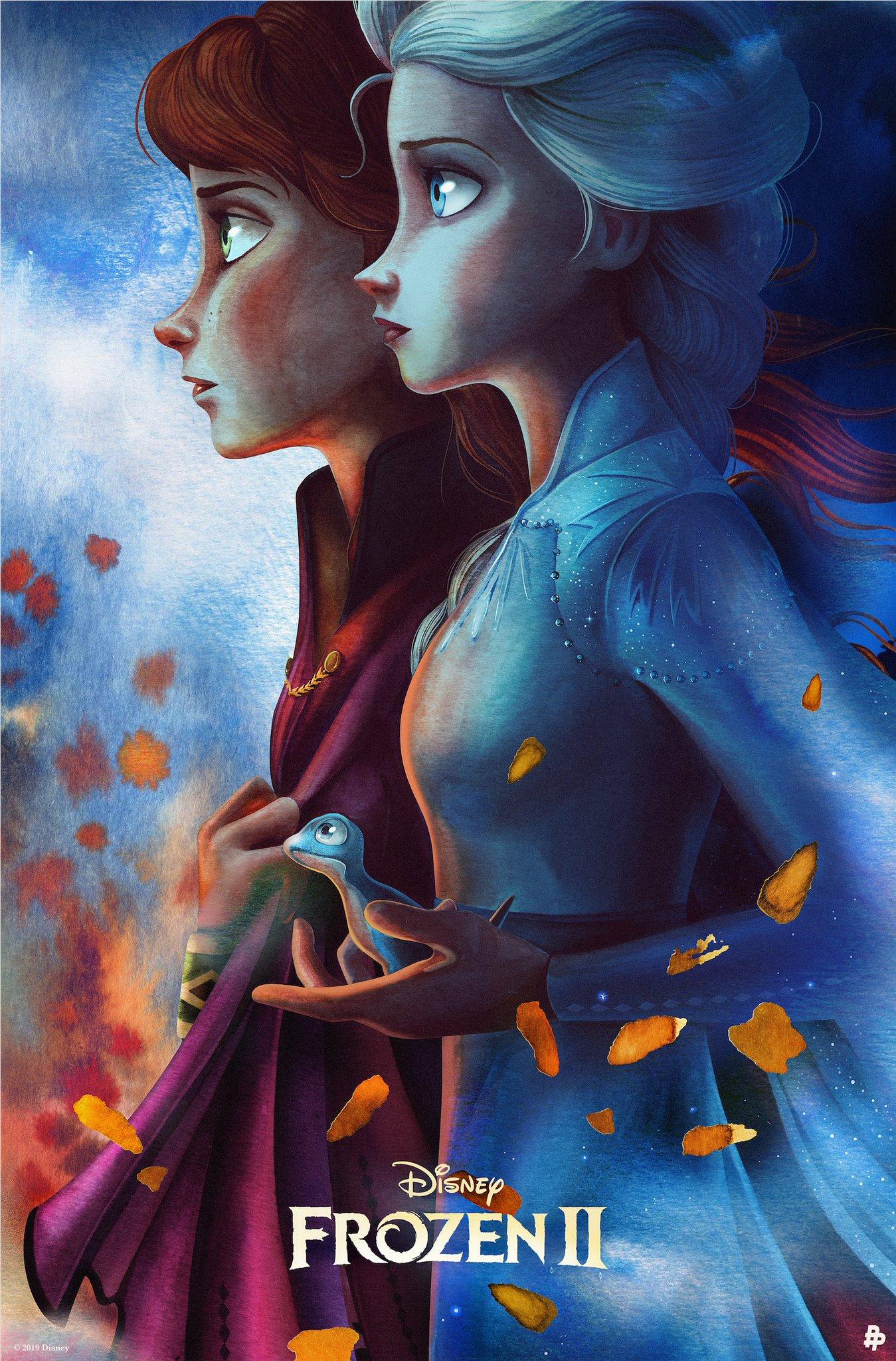 Frozen 2 - Anna and Elsa Poster
