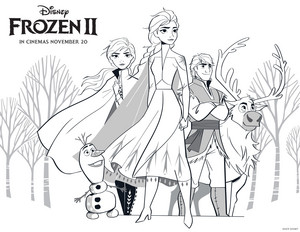 La Reine des Neiges 2 Coloring Page