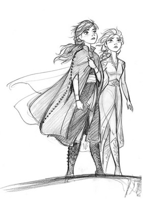 La Reine des Neiges 2 Concept Art - Anna and Elsa