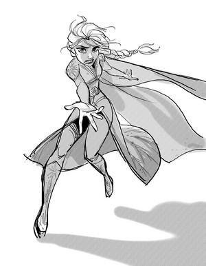 La Reine des Neiges 2 Concept Art - Elsa