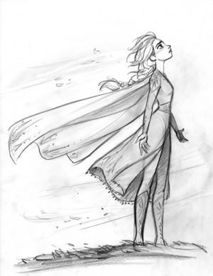 Frozen 2 Concept Art - Elsa