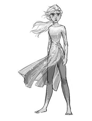 Nữ hoàng băng giá 2 Concept Art - Elsa