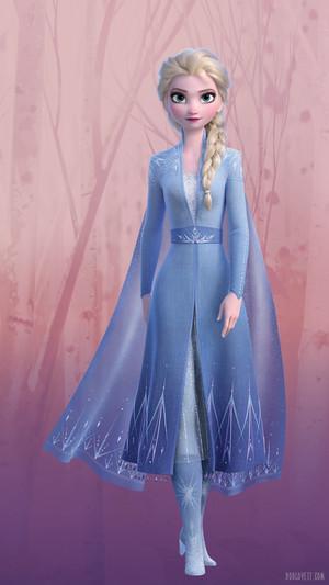ফ্রোজেন 2 - Elsa Phone দেওয়ালপত্র