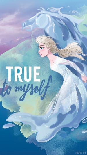 Nữ hoàng băng giá 2 - Elsa Phone hình nền