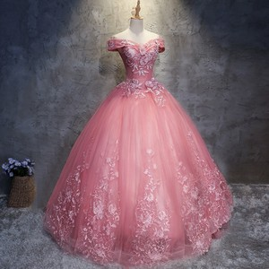 Beautiful rosa ball kleid