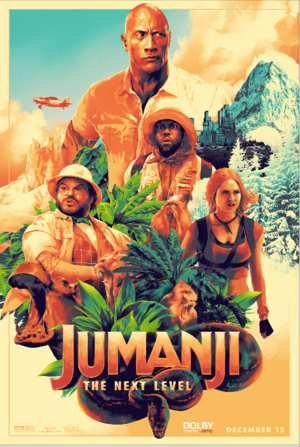 Jumanji: The 다음 Level (2019) Dolby Cinema Poster
