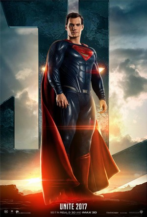 Justice League (2017) Poster - Henry Cavill as super-homem