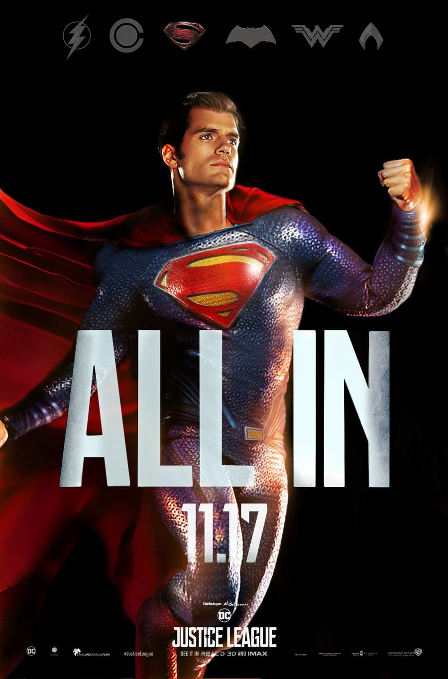 Justice League - All In Poster - Superman