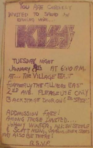 চুম্বন ~East Village, Manhattan...January 8, 1974 (Fillmore East)