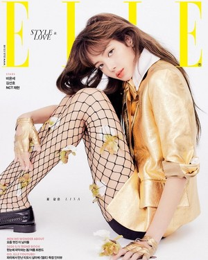 Lisa is a ফুল among ফুলেরডালি for 'Elle Korea'