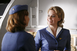Margot Robbie as Laura Cameron in Pan Am - halik halik Bang Bang